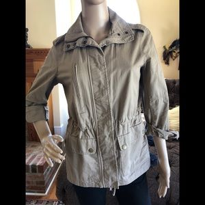 Love tree Women's Khaki Zip And button Jacket M
